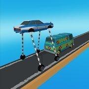 伸展车轮抬起汽车